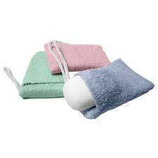 Evelots Terry Cloth Soap Pouch Sponges, Bath & Shower Scrub, Bathroom, Set of 3