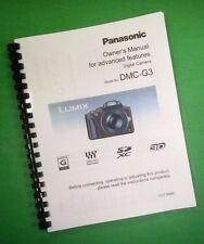 COLOR PRINTED Panasonic Advanced DMC-G3 Manual, User Guide 208 Pages
