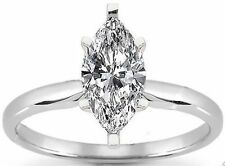 1.01 carat Marquise Cut Diamond Solitaire Engagement Wedding Ring F color SI2