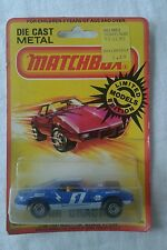Vintage 1980 LESNEY MATCHBOX #9 CAM CRACKER 1971 AMX Javelin Blue 1:64