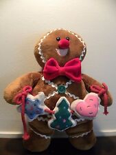Brown Plush Gingerbread Man Christmas/Holiday Decoration