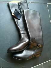 "Paul smith ""hommes seulement"" en cuir marron bottes hautes UK6 ue 39-made in italy"