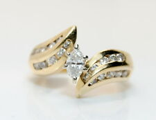 14K Yellow Gold 2/3 Ct Marquise Diamond  Ring Size 5.25
