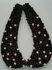 Black Jewelled Collar with Diamante Stones