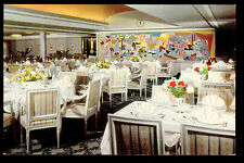 c1966 interior dining room Swedish American Line ship MS Kungsholm postcard