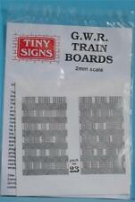 TINY SIGNS TN23 GWR WESTERN REGION TRAIN BOARDS N GAUGE 2MM SCALE SET ONE PACK