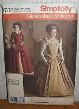 Womens/Misses Elizabethan Costumes Sewing Pattern/Simplicity 3782/SZ 6-14/UCN