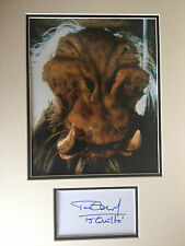 TIM DRY - STAR WARS - J'QUILLE ACTOR - EXCELLENT SIGNED COLOUR DISPLAY