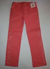 New Gymboree Coral Glitter Dot Skinny Pants Jeans Size 6 Year Snowflake Glamour