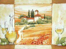 Alberti: Vino Bianco... Küche Wein Italien Fertig-Bild Wandbild