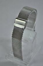 SHARK mesh Watch Bracciale si adatta a 22mm LUG SEIKO, CITIZEN, Omega. completamente regolabile