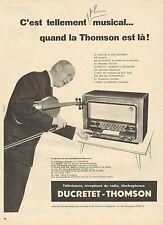 Publicité 1957  Téléviseurs Récepteurs de radio Electrophones DUCRETET THOMSON