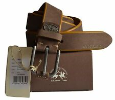 Cintura Pelle La Martina Uomo Men Belt Pelle 100% Leather Dark Brown 023B39