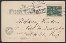 U.S. 1904. St. Louis Worlds Fair Expo Card 323, Newton, N.J.