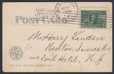 U.S. 1904. St. Louis Worlds Fair Expo Card 323, Newton, N.J.