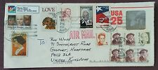 2007 USA Multifranked Airmail Cover to Southport Rd, Gosport GB