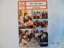 CARTE FICHE CINEMA 1971 SMIC SMAC SMOC Charles Gerard Jean Collomb Amidou