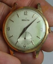 Vintage ZENITH  LARGE 18KT SOLID GOLD MENS WATCH CIRCA 1940S WORKS