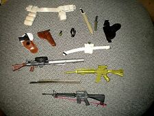 Lot of G.I. Joe Military Accessories 3 Auto Rifles holsters pistol grenade mache