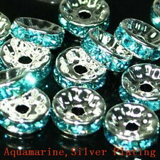 100pcs Swarovski Czech Crystal Rhinestone Rondelle Spacer Beads 4,5,6,8,10mm