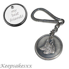 Siberian Husky - Dog Tag - Disc KEYRING  Key Chain with PERSONALISED ENGRAVING
