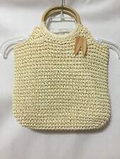 Tommy Bahama Medium Woven Straw/Raffia/Rattan Bag/Purse w/embellished Tassel
