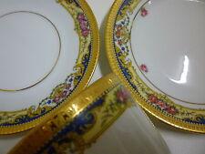 LEGLE LIMOGES France PORCELAINE D'ART Trio Set Cup,Saucer,& Plate