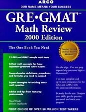 GRE GMAT Math Review : The Mathworks Program by David Frieder (1999, Paperback)