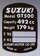 SUZUKI GT500 HEADSTOCK FRAME RESTORATION DECAL