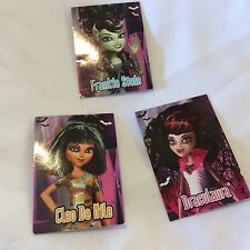 Monster High MH LOT 3 GHOULS RULE POSTCARD Cleo Draculaura Frankie