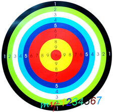 Rainbow 10 rings shooting archery target paper competition special training 40cm