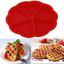 Silicone Waffle Moulds Mold Maker Pan Baking Cookie Cake Bakeware Waffle Tray