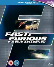 Fast and the Furious 1 2 3 4 5 6 7 Movie Collection Complete Film Set Blu Ray