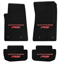 NEW! Black floor mats 2014-2015 Camaro Embroidered Logo RS in Red double All 4
