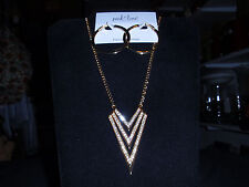"""Park Lane Jewelry """"VENTURE"""" Necklace & """"ELECTRIFY"""" Earrings, Crystals NEW!!!"""