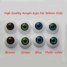 22mm Acrylic Eyes for Reborn Doll Kit BJD Dollfile Luts Ball Joint Dolls 1 pair