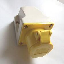 16 bis 110 Volt GIALLO superficie del sito o Generatore socket outlet sf113-4 16 amp a 110V