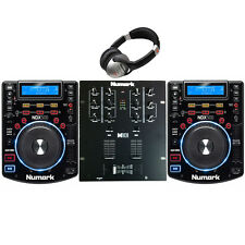 DJ PACKAGE 4: Numark NDX500 USB/CD/Software Controller  M101 MIXER & HEADPHONES