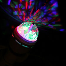 E27 RGB 3X LED Rotating Stage Crystal Ball LED Light Lamp for Disco DJ Party