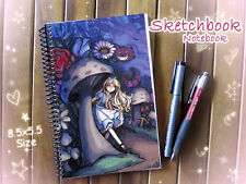Alice in Wonderland Art Sketchbook or Notebook Journal