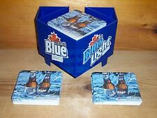 LABATT BLUE COCKTAIL BAR CADDY & 50 BEER BAR COASTERS NEW