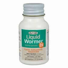 Durvet Dog Wormer,2X, Worms 120#/bottle, Pyrantel Pamoate, (generic Nemex)