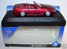 SOLIDO MERCEDES SL CABRIOLET ROUGE 1/43 REF 1517 in BOX