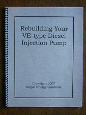 Diesel Injection Pump Rebuild (Bosch VE) -- Printed Book