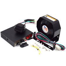 200W 8 Sound Car Warning Alarm Police Fire Siren Horn PA Speaker MIC System Nice
