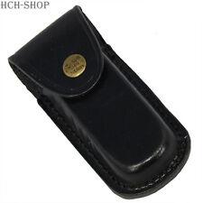 Fox Outdoor Messer Etui Leder schwarz Heft bis 12 cm Messeretui Gürtelschlaufe