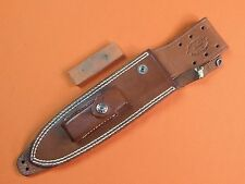 US Custom Hand Made Randall Leather Sheath Scabbard Stone for Fighting Knife