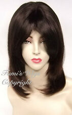 Face Frame Layered Straight Wig In Natural Dark Brown From Fumi Wigs UK