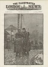 1888 RUSSIAN & GERMAN FRONTIER GUARDS 'EXCHANGING FIRE' HAVING A SMOKE CIGARETTE