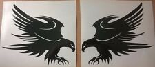 11in x2 tribal hawk eagle attacking vinyl graphic car sticker bonnet side wall